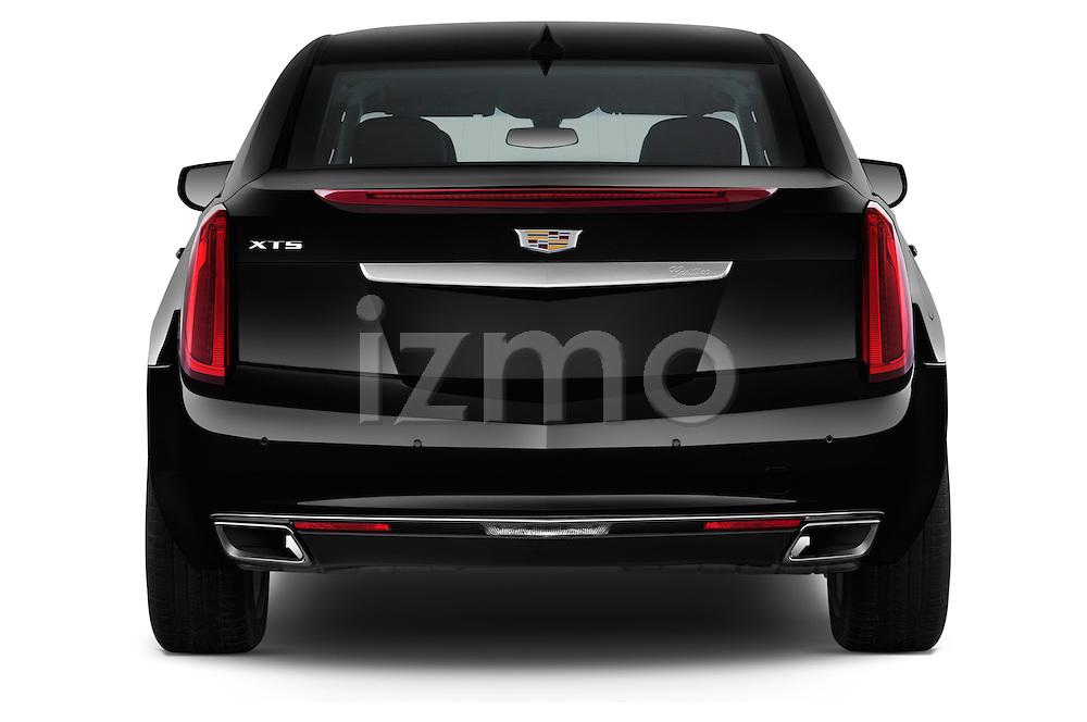 Straight rear view of 2016 Cadillac XTS - 4 Door Sedan Rear View  stock images
