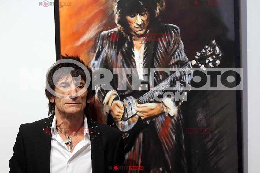 """Ronnie Wood de los Rolling Stones asisten a la conferencia de prensa por su """"Rostros, Tiempo y Lugares"""", exposición en el 498 de Broome Street en Nueva York, 04/09/2012 .. (*Crédito:Rolf Mueller/cara*a*cara/mediapunch/NortePhoto.*)"""