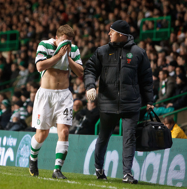 James Forrest limps off with hamstring injury