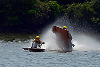 Frame 7: 40-M rides up the rooster tail of 20-M    (Outboard Hydroplane)