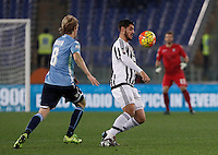 Calcio, Serie A: Lazio vs Juventus. Roma, stadio Olimpico, 4 dicembre 2015.<br /> Juventus&rsquo; Alvaro Morata, right, is chased by Lazio&rsquo;s Dusan Basta during the Italian Serie A football match between Lazio and Juventus at Rome's Olympic stadium, 4 December 2015.<br /> UPDATE IMAGES PRESS/Isabella Bonotto