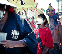 peru, mejia, carnival, celebration, costumes, coastal, deface, vandalize, paint people, youth, candid, south america
