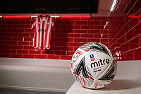 The new changing rooms at Lincoln City's Elite Performance Centre<br /> <br /> Photographer Chris Vaughan/CameraSport<br /> <br /> The official opening of Lincoln City's new Elite Performance Centre - Wednesday 7th November 2018 - Scampton, Lincolnshire<br /> <br /> World Copyright © 2018 CameraSport. All rights reserved. 43 Linden Ave. Countesthorpe. Leicester. England. LE8 5PG - Tel: +44 (0) 116 277 4147 - admin@camerasport.com - www.camerasport.com