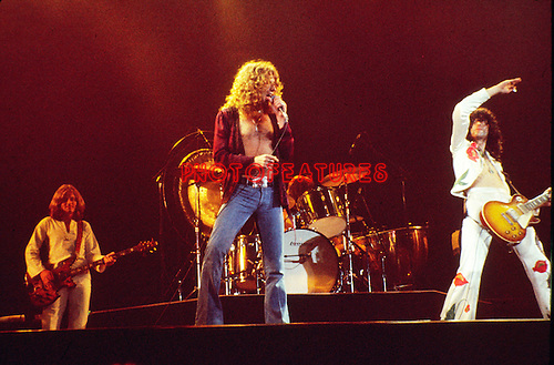 Led Zeppelin 1977 John Paul Jones, Robert Plant, John Bonham and Jimmy Page.© Chris Walter.