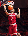 Jan 24, 2018; Champaign, IL, USA; Indiana Hoosiers forward Justin Smith (3) dunks the ball during the second half against the Illinois Fighting Illini at State Farm Center. Mandatory Credit: Mike Granse-USA TODAY Sports