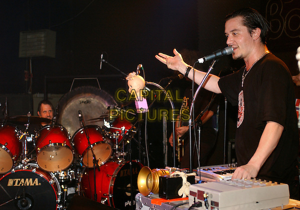 MIKE PATTON OF FANTOMAS.(ex-Faith No More & Mr. Bungle).Performs during a tour stop held at the Agora Ballroom, Cleveland, OH, USA, April 16th 2005..half length gig live band concert.Ref: ADM.www.capitalpictures.com.sales@capitalpictures.com.©Jason Nelson/AdMedia/Capital Pictures.