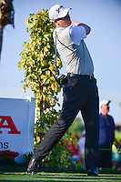 Ryan Brehm (USA) watches his tee shot on 13 during round 1 of the Honda Classic, PGA National, Palm Beach Gardens, West Palm Beach, Florida, USA. 2/23/2017.<br /> Picture: Golffile | Ken Murray<br /> <br /> <br /> All photo usage must carry mandatory copyright credit (&copy; Golffile | Ken Murray)