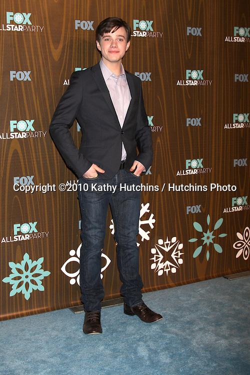 Chris Colfer.arriving at the 2010 Winter Fox TCA Party .Villa Sorisso Resturant.Pasadena, CA.January 11, 2010.©2010 Kathy Hutchins / Hutchins Photo....