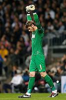 Manchester United's David De Gea celebrates goal during Champions League 2012/2013 match.February 12,2013. (ALTERPHOTOS/Alfaqui/Cesar Cebolla) /NortePhoto