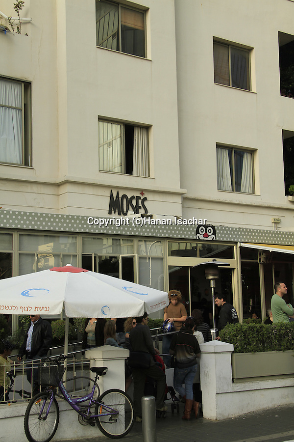 Israel, Tel Aviv-Yafo, Moses restaurant on Rothschild boulevard