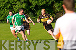 In Action Currow's Seamus Scanlon at the  Currow Vs St. Brendans in the Kerry Senior County Football Championship Round 2 at Currow GAA field on Friday