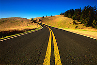Deserted highway, Route 1, California