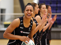 29.10.2015 Silver Ferns Malia Paseka in action during the Silver Ferns training ahead of the final test match against the Australian Diamonds in Perth Australia. Mandatory Photo Credit ©Michael Bradley.