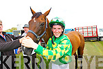 Cian Collins, who won the 15 hands on Miss Wonderful (horse is based in Dingle) at Glenbeigh races on Sunday afternoon