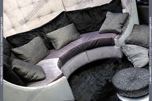 Comfortable round living room sofa Interior design