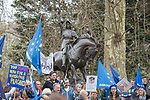 "Battle cry - The ""Put it to the People"" rally makes it's way through central London today. Demonstrators from across the country gathered to call for a second referendum on Brexit and to march through the UK capital finishing with speeches in Parliament Square opposite the Houses of Parliament in Westminster."
