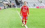 Stockholm 2015-04-25 Fotboll Allsvenskan Hammarby IF - &Aring;tvidabergs FF :  <br /> &Aring;tvidabergs Martin Lorentzson g&aring;r av planen efter matchen mellan Hammarby IF och &Aring;tvidabergs FF <br /> (Foto: Kenta J&ouml;nsson) Nyckelord:  Fotboll Allsvenskan Tele2 Arena Hammarby HIF Bajen &Aring;tvidaberg &Aring;FF portr&auml;tt portrait glad gl&auml;dje lycka leende ler le