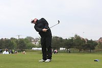 Dennis Taylor (AM) playing with Paul Dunne (IRL) on the 10th tee during the Pro-Am of the Betfred British Masters 2019 at Hillside Golf Club, Southport, Lancashire, England. 08/05/19<br /> <br /> Picture: Thos Caffrey / Golffile<br /> <br /> All photos usage must carry mandatory copyright credit (&copy; Golffile | Thos Caffrey)