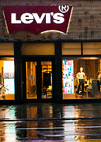 NEW YORK, NY - April 13:  Levi's store remains shuttered due to COVID-19 pandemic on April 13, 2020. in New York, United States. The global economy is facing the worst collapse since the WWII, while COVID-19  pandemic has now killed more than 22,000 people in the United States and at least 1,864,629 people died world wide. (Photo by Eduardo MunozAlvarez/VIEWpress)