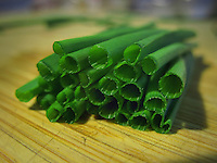 Fresh Chives cut for a morning omelet.