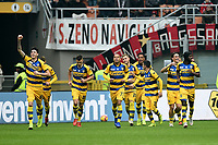 esultanza gol Roberto Inglese . Goal celebration <br /> Milano 2-12-2018 Stadio San Siro Football Calcio Serie A 2018/2019 AC Milan - Parma Foto Image Sport / Insidefoto