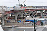 Pearl Harbor Memorial Bridge, New Haven Harbor Crossing Corridor. CT DOT Contract B1 Project No. 92-618 Progress Photography. Northbound West Approaches. Eighth on site photo capture of once every four month chronological documentation.