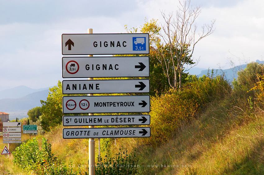 Near Gignac. Gignac, Aniane, Montpeyroux, St Guilhem le Desert, Grotte de Clamouse. Languedoc. France. Europe.
