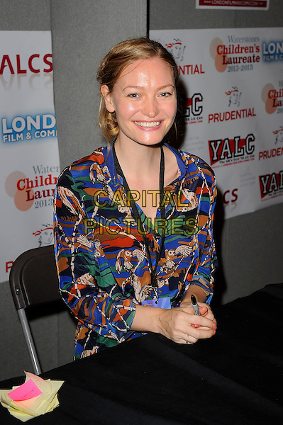LONDON, ENGLAND - JULY 13: Holly Smale attending London Film and Comic Con 2014 at Earls Court on July 13, 2014 in London, England.<br /> CAP/MAR<br /> &copy; Martin Harris/Capital Pictures