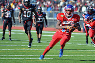 November 22, 2012  (Washington, DC)  WR Tyray Johnson scores Anacostia's sole touchdown on 15-yard run after a pass from DeQuan Turner in the 2012 DCIAA Turkey Bowl. Dunbar defeated Anacostia 12-8.  (Photo by Don Baxter/Media Images International)