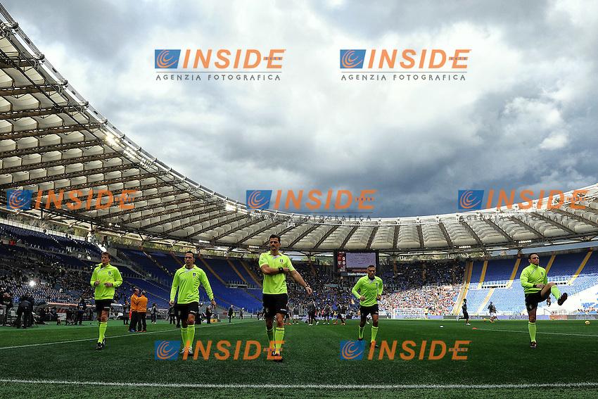 Arbitri riscaldamento Referee<br /> Roma 15-02-2015 Stadio Olimpico, Football Calcio Serie A AS Roma - Parma Foto Andrea Staccioli / Insidefoto