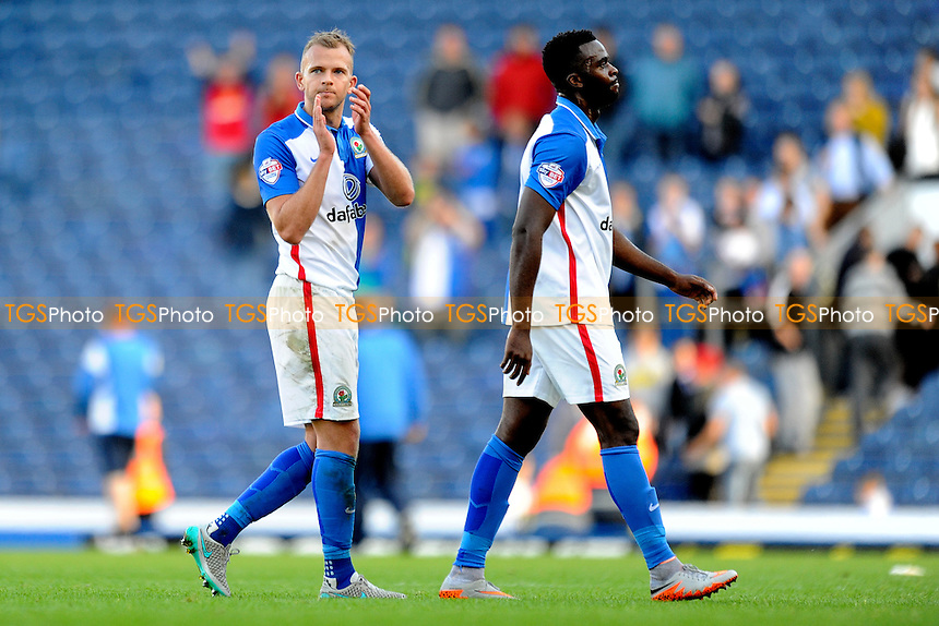 Jordan Rhodes of Blackburn Rovers applauds the fans at the end of the game during Blackburn Rovers vs Charlton Athletic, Sky Bet Championship Football at Ewood Park, Blackburn, England on 19/09/2015
