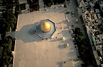 Israel, Jerusalem Old City, an aerial view of the Dome of the Rock