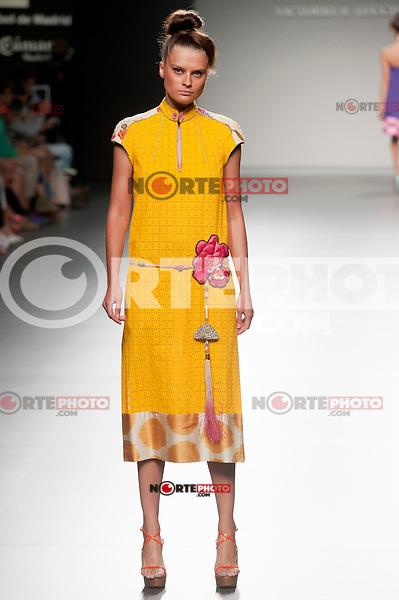 Cibeles catwalk with fashion show of Victorio &amp; Luccino on Agost 31th 2012...Photo:  (ALTERPHOTOS/Ricky) /NortePhoto.com<br /> <br /> **CREDITO*OBLIGATORIO** <br /> *No*Venta*A*Terceros*<br /> *No*Sale*So*third*<br /> *** No*Se*Permite*Hacer*Archivo**<br /> *No*Sale*So*third*