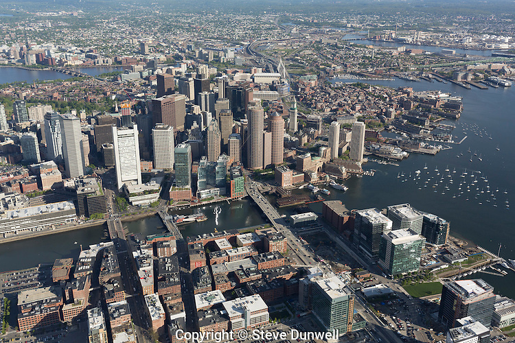 Rooms: Seaport District And Downtown Aerial View, Boston, MA