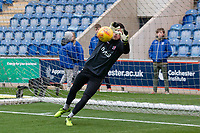 Pre match goalkeeping drills during Colchester United vs Exeter City, Sky Bet EFL League 2 Football at the JobServe Community Stadium on 24th November 2018