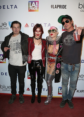 WEST HOLLYWOOD, CA June 11- Brooke Candy, Tommy Lee, Guests, at LA PRIDE 2017 at West Hollywood Park, California on June 11, 2017. Credit: Faye Sadou/MediaPunch