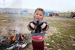 ARBAT, IRAQ: Diyab Allu, 2, from Derzor, Syria, is pictured in a refugee camp in Arbat, Iraq. ..The semi-autonomous region of Iraqi Kurdistan has accepted refugees from the conflict in Syria into several camps. Arbat lies near Sulaimaniyah in northeastern Iraq, approximately 500 kilometres from the Syrian border...Photo by Besaran Tofiq/Metrography
