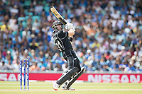 Martin Guptill (New Zealand) tries to help a short ball over the slip area during India vs New Zealand, ICC World Cup Warm-Up Match Cricket at the Kia Oval on 25th May 2019