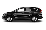 Car Driver side profile view of a 2015 Honda CR-V Elegance 5 Door SUV Side View