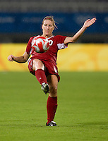 Martina Franko. The USWNT defeated Canada in extra time, 2-1, during the 2008 Beijing Olympics in Shanghai, China.