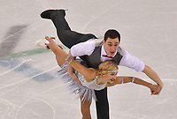 Germany's Aljona Savchenko and Bruno Massot give a figure skating pair performance in the Gangneung Ice Arena at the Winter Olympics in Pyeongchang, South Korea, 9 February 2018. Photo: Peter Kneffel/dpa /MediaPunch ***FOR USA ONLY***