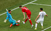 17th June 2017, St Petersburg, Russia;  FIFA 2017 Confederations Cup football, Russia versus New Zealand;  Group A - Saint Petersburg Stadium,  Russia's Aleksandr Bukharov shoots at goal but sees his shot saved by New Zealands keeper Stefan Marinovic