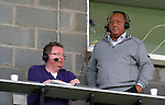 St Johnstone v Dundee United...27.08.11   SPL Week 5.A very brown Jimmy Calderwood commentating for radio.Picture by Graeme Hart..Copyright Perthshire Picture Agency.Tel: 01738 623350  Mobile: 07990 594431