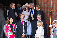 Mariage du Prince Ernst junior de Hanovre et de Ekaterina Malysheva &agrave; l'&eacute;glise Markkirche &agrave; Hanovre.<br /> Allemagne, Hanovre, 8 juillet 2017.<br /> Wedding of Prince Ernst Junior of Hanover and Ekaterina Malysheva at the Markkirche church in Hanover.<br /> Germany, Hanover, 8 july 2017<br /> Pic :  Prince Andrea Casiraghi &amp; wife Tatiana Santo Domingo