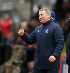 Thumbs up from Ally McCoist after goal no 6