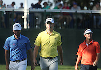 Spencer Levin (USA), Martin Laird (SCO)  Adam Hadwin (CAN) during round 1 of the Valspar Championship, at the  Innisbrook Resort, Palm Harbor,  Florida, USA. 10/03/2016.<br /> Picture: Golffile | Mark Davison<br /> <br /> <br /> All photo usage must carry mandatory copyright credit (© Golffile | Mark Davison)