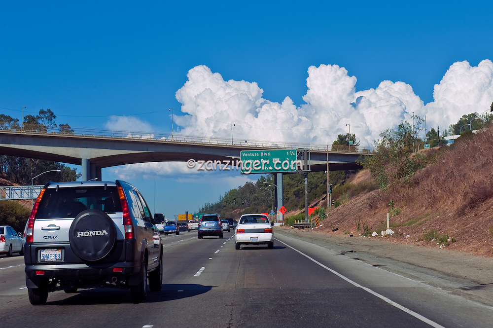 I-405 Freeway going North, Mulholland Exit Ramp, Interstate