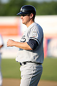 July 5th 2008:  Brian Baisley of the Staten Island Yankees, Class-A affiliate of the NY Yankees, during a game at Falcon Park in Auburn, NY.  Photo by:  Mike Janes/Four Seam Images