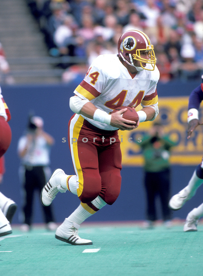 Washington Redskins John Riggins(44) during a game against the New York  Giants on October 20, 1985 at Giants Stadium in East Rutherford,  New Jersey.  John Riggins played for 14 years with 2 different teams, was a 1-time Pro Bowler and was inducted to Pro Football Hall of Fame in 1992.