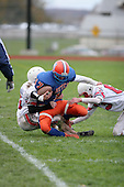 Attica Blue Devils junior varsity football against the Letchworth Indians at Attica High School on October 23, 2006 in Attica, New York.  (Copyright Mike Janes Photography)